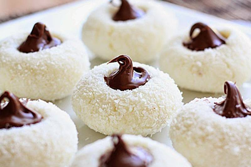 Kokos kolačići s čokoladom